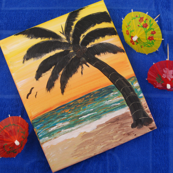 Tropical Sunset Painting (13+ yrs)