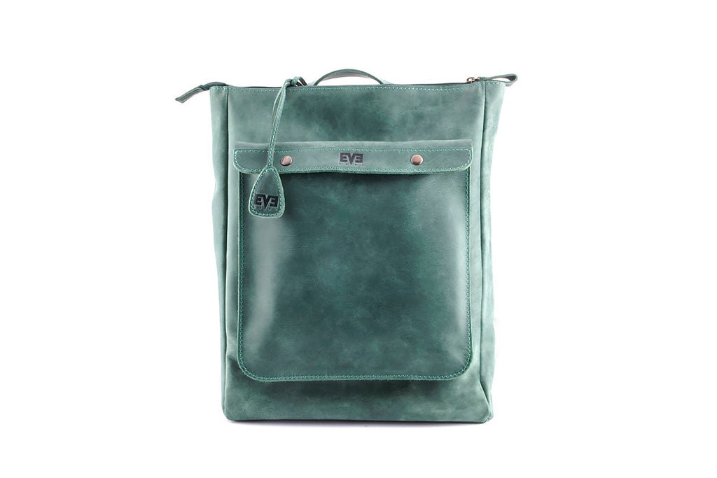 Backpack vintage city ham darkgreen crazy horse