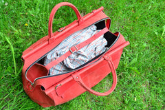 Vintage style Duffel Bag Red