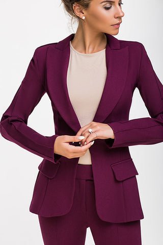 LADY BOSS JACKET LAMPAS MAROON