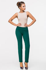 LADY BOSS TIGHT-LEG TROUSERS BLUE