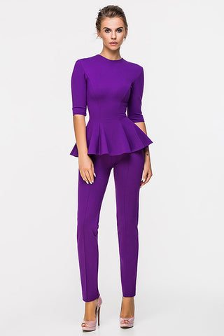 LADY BOSS BLOUSE WITH A SLEEVE VIOLET