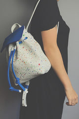 Backpack francesca white/blue cosmo