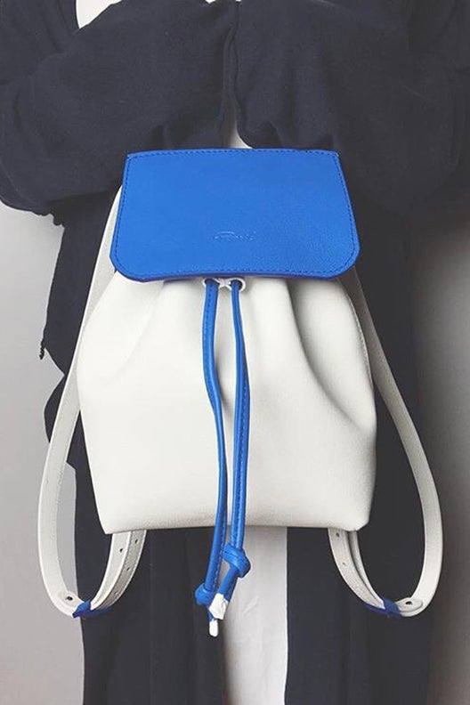 Backpack francesca blue/white