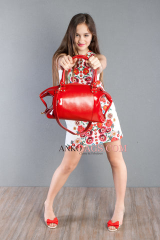 "Leather handbag Ankobags ""VERONA"" red"