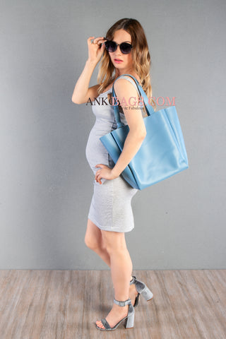 "Leather handbag Ankobags ""Vivien"" blue"