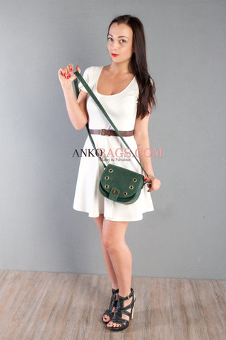 "Leather Crossbody bag Ankobags ""CANDY"" green"
