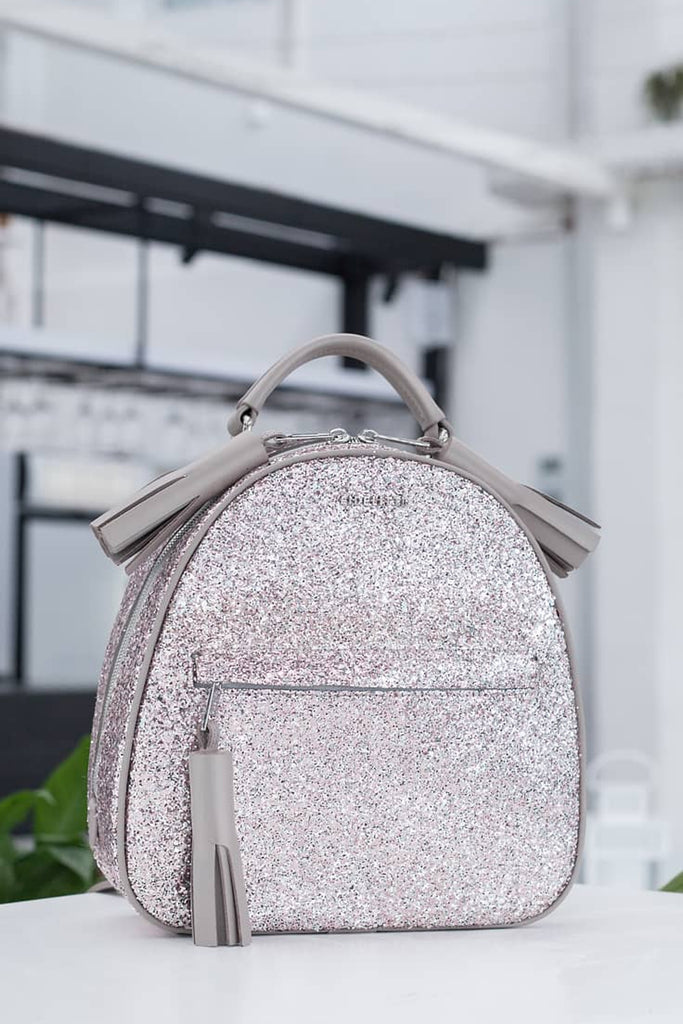 543014196f3b Backpack Lady Anne vogue glitter gray – Ankobags