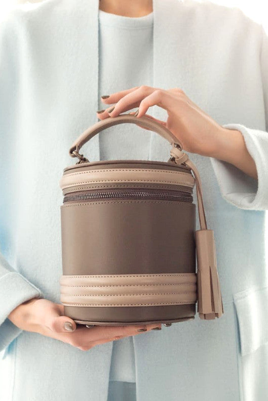 Lady Anne barrel two-by-two brown/beige