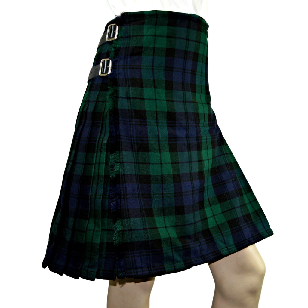 Black Watch Heavyweight Poly Viscose Formal 8 Yard Kilt - Highland Kilt Company