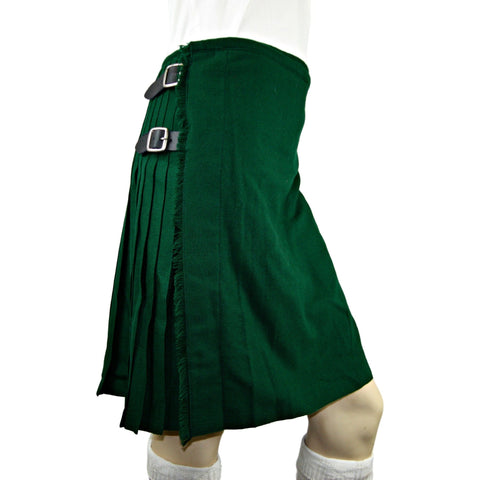 Irish Traditional Solid Green Kilt - Highland Kilt Company