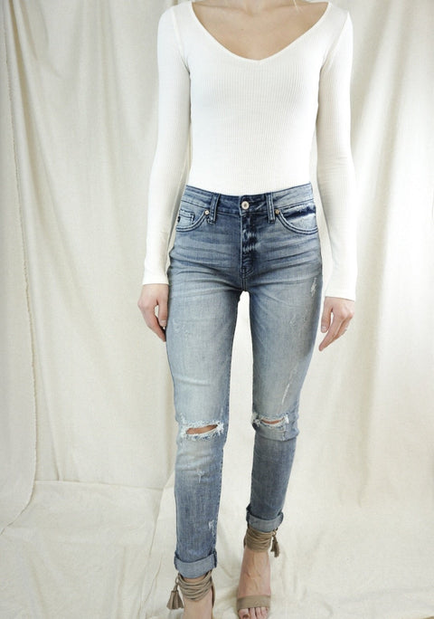Piper Light Wash High Rise Denim
