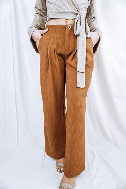 Copper Flare Pants