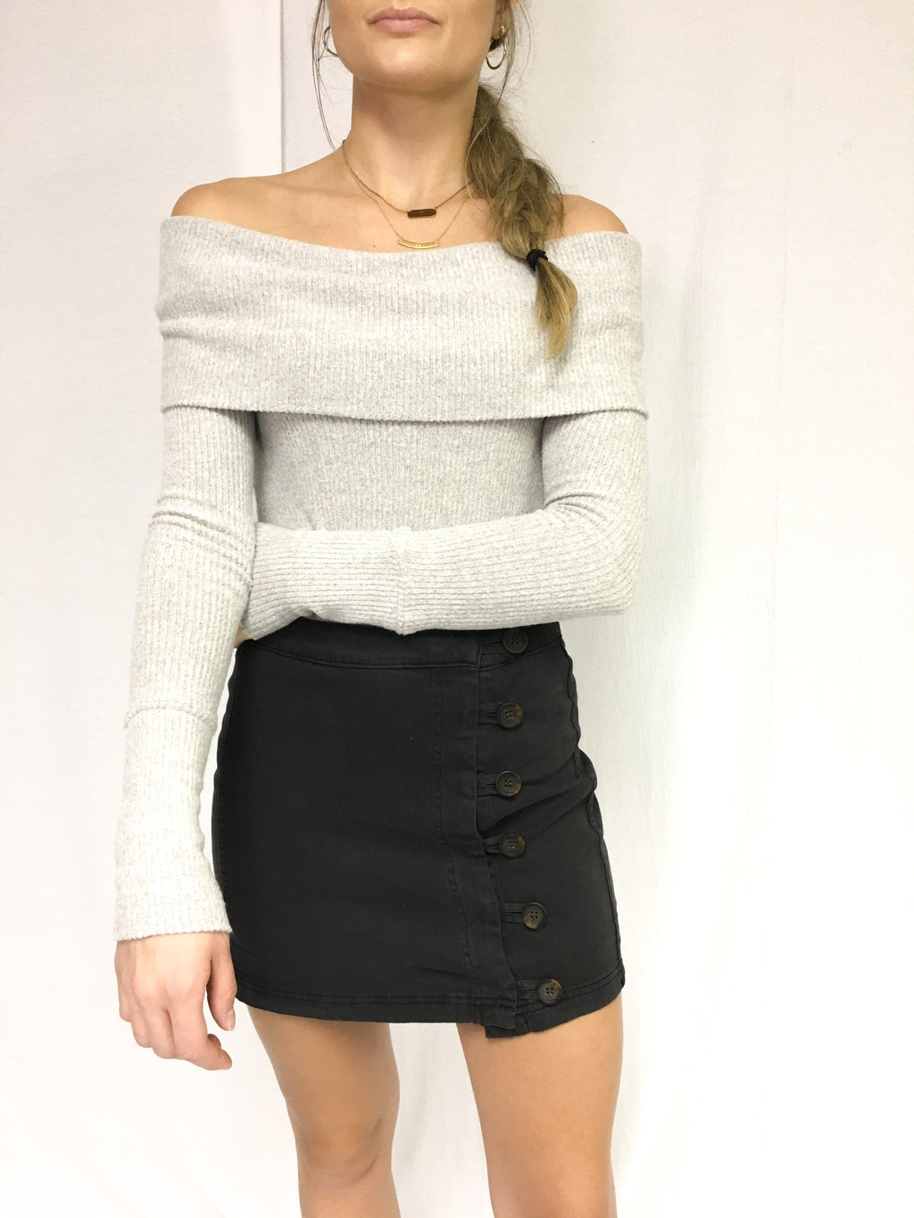 Next Level Comfy Sweater In Grey