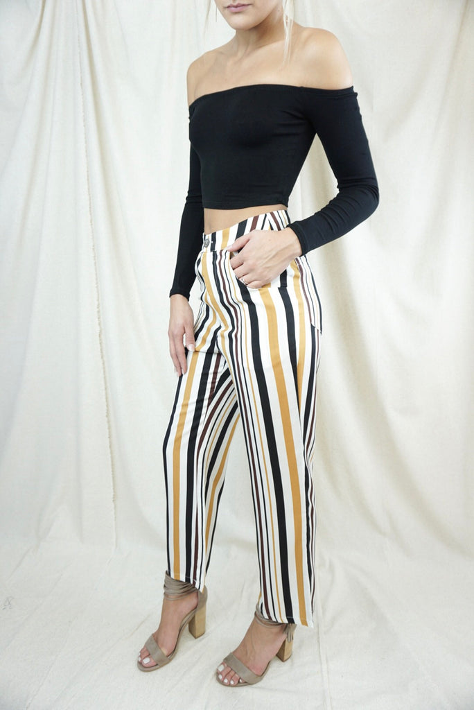 All the Stripe Reasons Cropped Pants