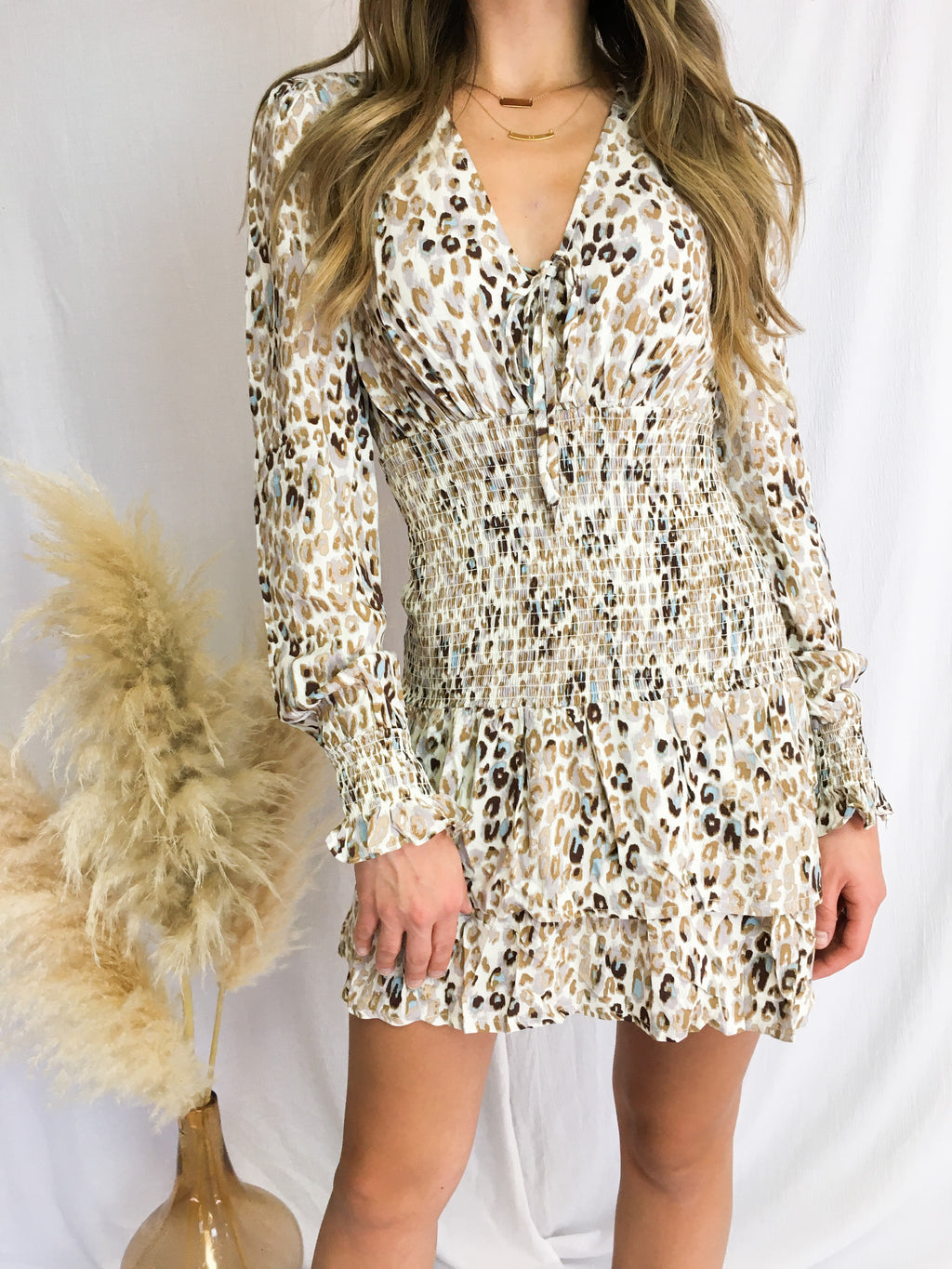 Leopard Smocked Dress