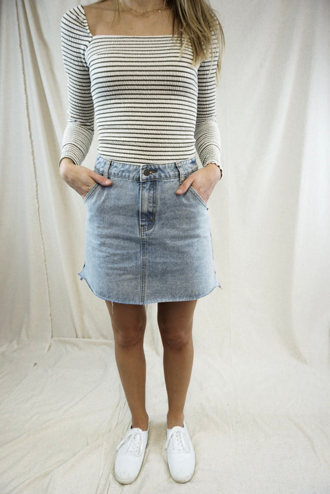 Light Wash Denim Mini
