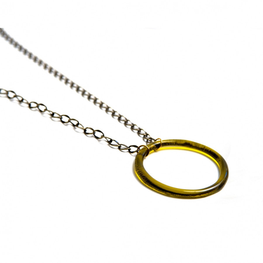 Brass Large Circle on Large Chain