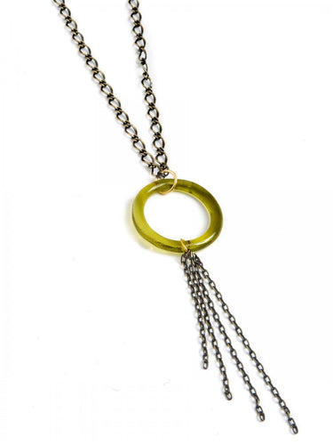 Brass Circle with Tassel