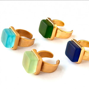 Cube Gold Ring