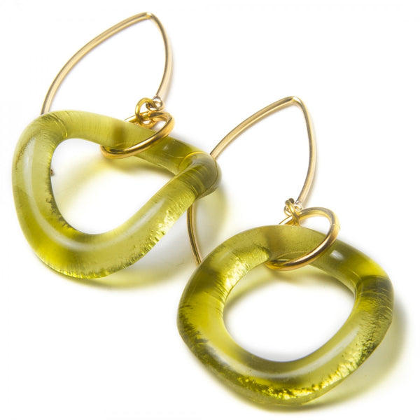 Wave Gold Boomerang Earrings