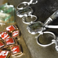 Coca-Cola Recycled Rectangle Earrings
