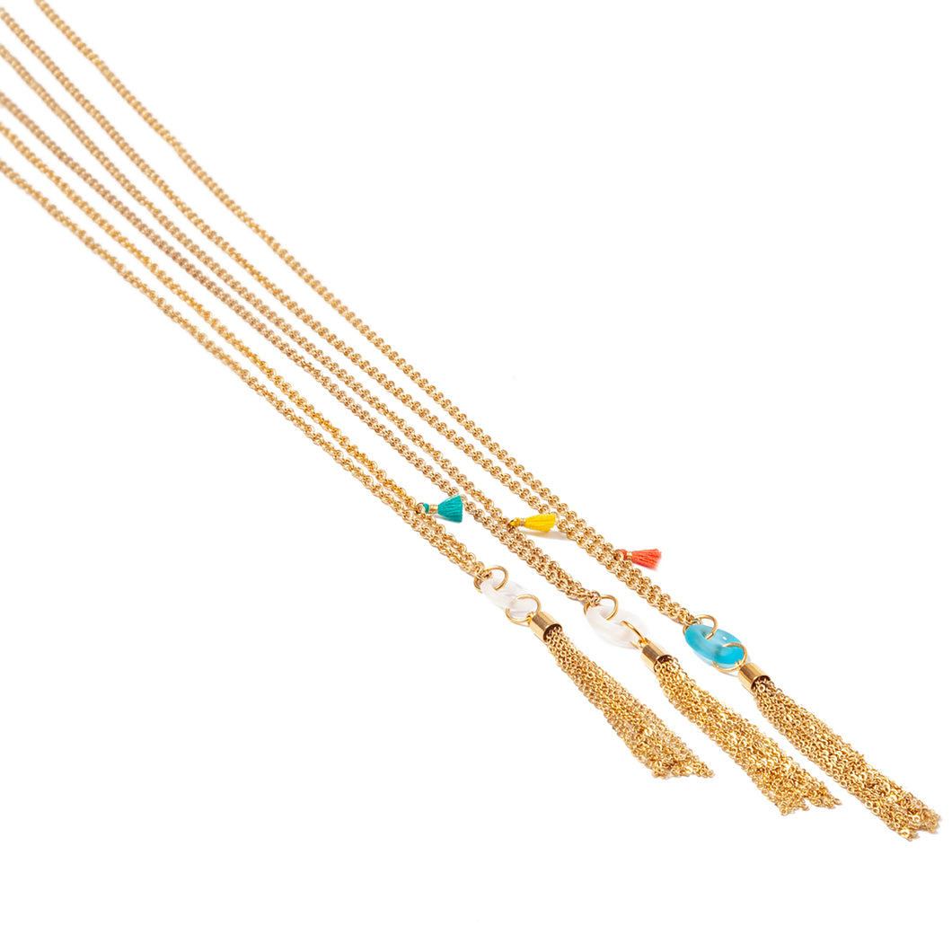 Mini Tassel Long Necklace