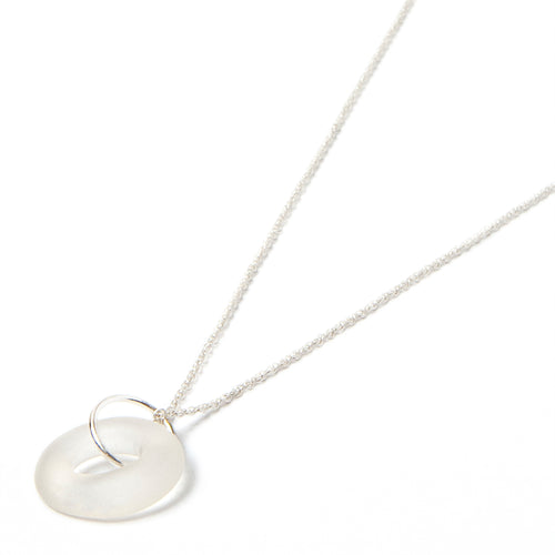 silver mini simple necklace
