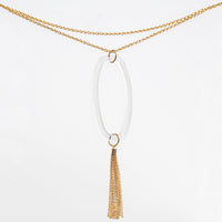 Boutique Long Tassel Necklace