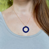 gold seaglass style simple necklace
