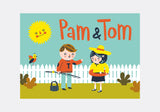 PAM AND TOM - COLOURING BOOK
