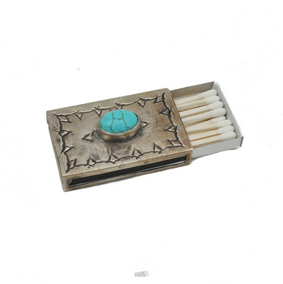 J. Alexander Stamped Matchbox Cover w/ Turquoise (Small)