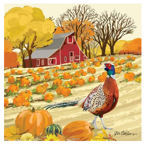 Hampshire Farm (Beverage Napkin)