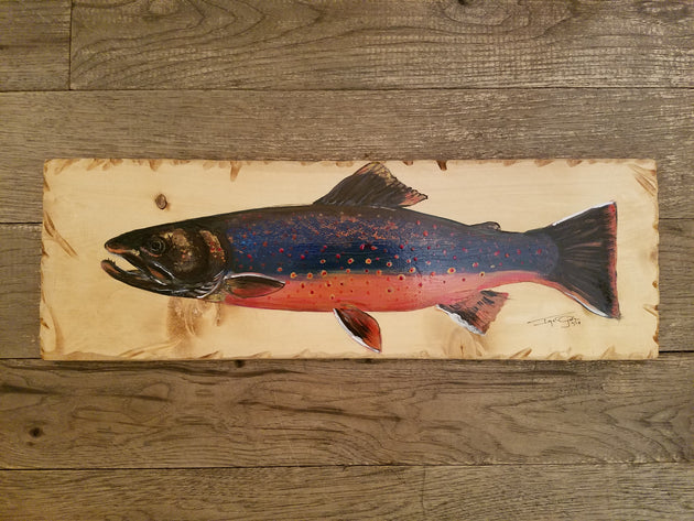 Dolly Varden Trout Painting