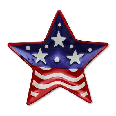 Shaped Patriotic Star Plate