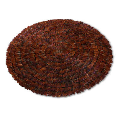 "Dark Brown Pheasant Feather Placemat (15"")"