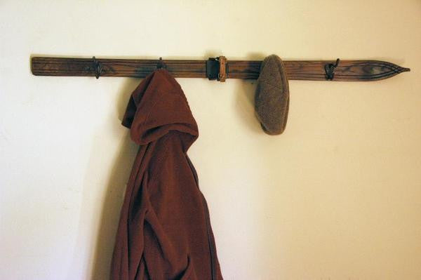 4 Ski Hook Coat Rack