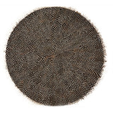 Guinea Feather Round Mat