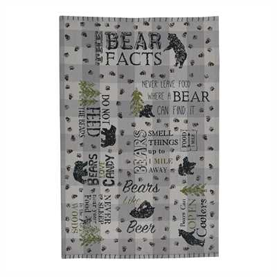 Bear Facts Printed Dishtowel