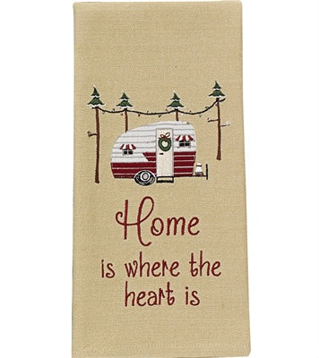 Home is Where the Heart is Dish Towel