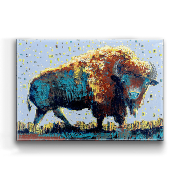 """Midnight Buffalo"" Metal Art (A2BX-MIDN-SL)"
