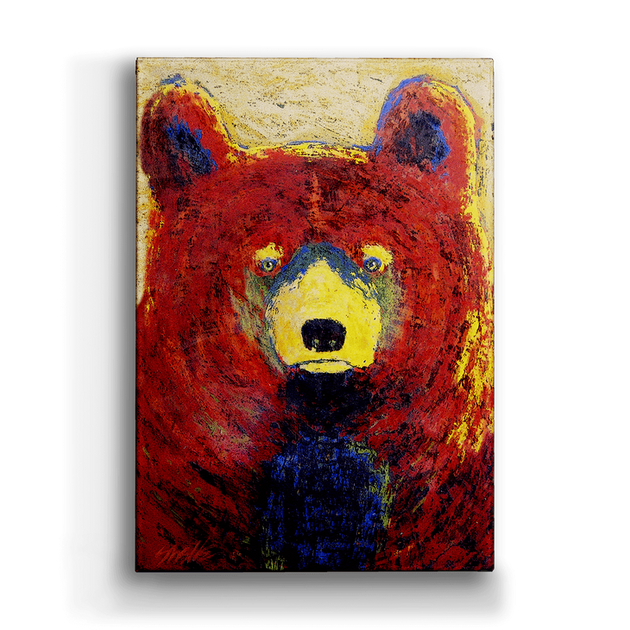 """Red Bear"" Metal Art (A2BX-RBEA-SL-WHLSE)"