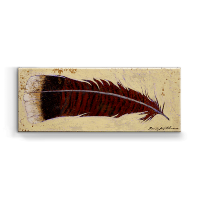 """Turkey Feather Left"" Metal Art (A5BX-LFTFEA-SL)"