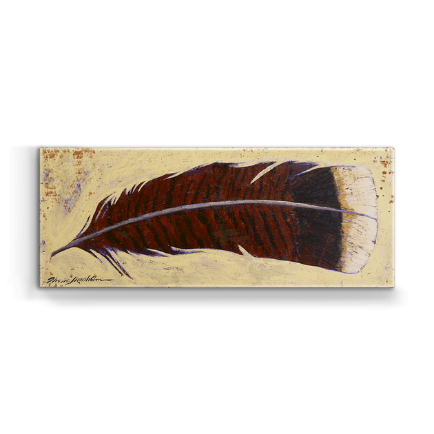 """Turkey Feather Right"" Metal Art (A5BX-RGTFEA-SL)"