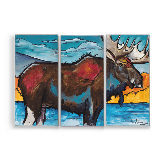 """Moose"" Metal Art (A7BX-1525MOOS-EA)"