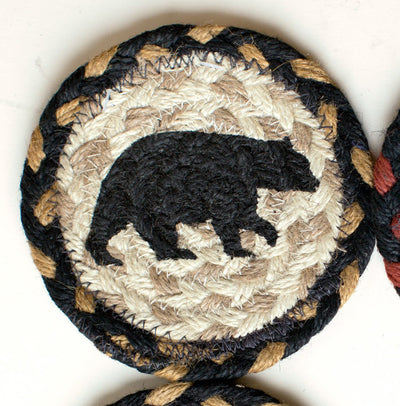 "American Bear with Black and Tan Coaster Capitol Earth 5"" Coaster"