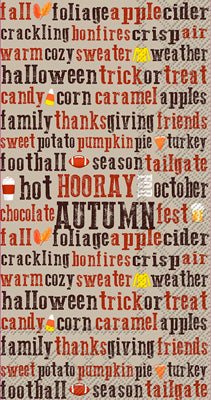 Hooray for Autumn (Guest Towel)