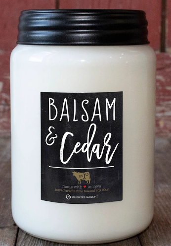 Balsam and Cedar 13 oz. Mason Jar Candle