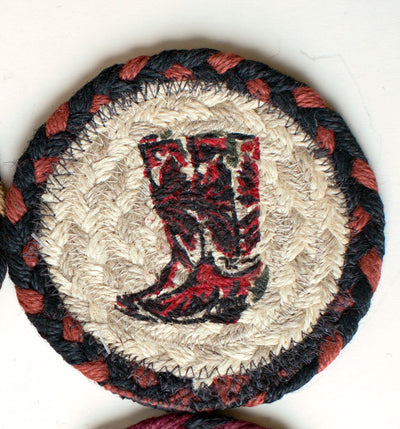 "Cowboy Boot Capitol Earth 5"" Coaster"
