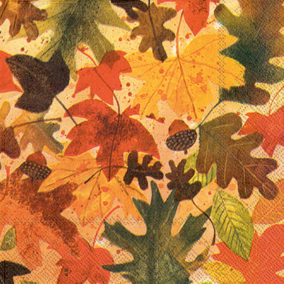 Autumn Leaves (Beverage Napkin)